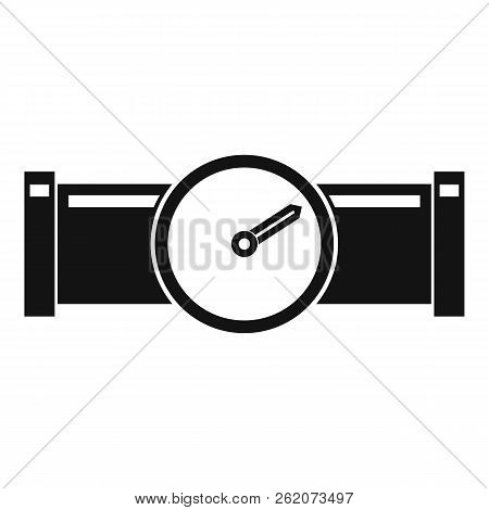 Instrument Measures The Pressure In The Pipe Icon. Simple Illustration Of Instrument Measures The Pr