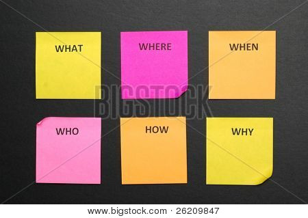 Sticky notes in brainstorming session