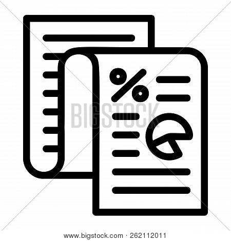 Finance Paper Icon. Outline Finance Paper Vector Icon For Web Design Isolated On White Background