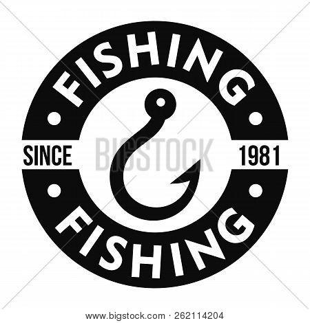 Fishing Hook Club Logo. Simple Illustration Of Fishing Hook Club Vector Logo For Web Design Isolated