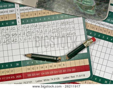 Golf Scorecard & Items