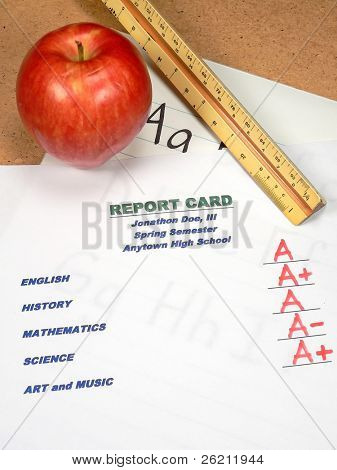 Grading Papers for School - Report Card