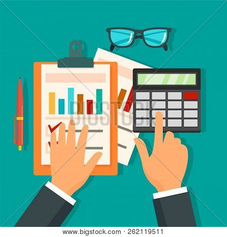 Tax Accounting Day Concept Background. Flat Illustration Of Tax Accounting Day Vector Concept Backgr