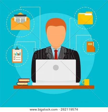 Plan Accounting Day Concept Background. Flat Illustration Of Plan Accounting Day Vector Concept Back