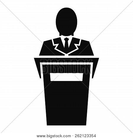 Leader Speech Icon. Simple Illustration Of Leader Speech Vector Icon For Web Design Isolated On Whit