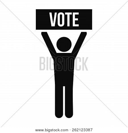 Vote Candidate Icon. Simple Illustration Of Vote Candidate Vector Icon For Web Design Isolated On Wh