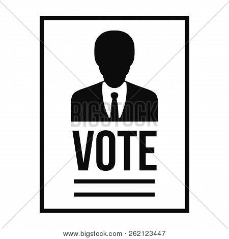 Vote Candidate Paper Icon. Simple Illustration Of Vote Candidate Paper Vector Icon For Web Design Is