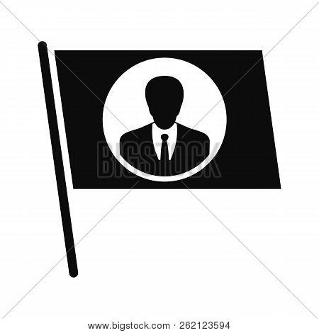 Flag Vote Candidate Icon. Simple Illustration Of Flag Vote Candidate Vector Icon For Web Design Isol