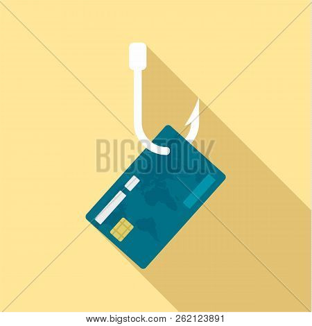 Phishing Credit Card Icon. Flat Illustration Of Phishing Credit Card Vector Icon For Web Design