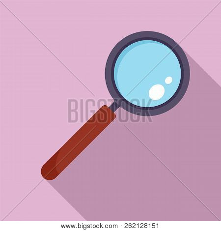 Find Solution Magnify Glass Icon. Flat Illustration Of Find Solution Magnify Glass Vector Icon For W
