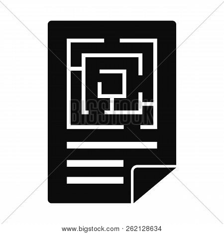 Labyrinth Solution Icon. Simple Illustration Of Labyrinth Solution Vector Icon For Web Design Isolat