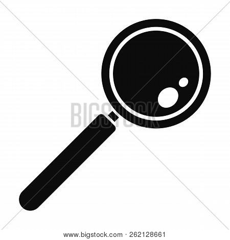 Find Solution Magnify Glass Icon. Simple Illustration Of Find Solution Magnify Glass Vector Icon For