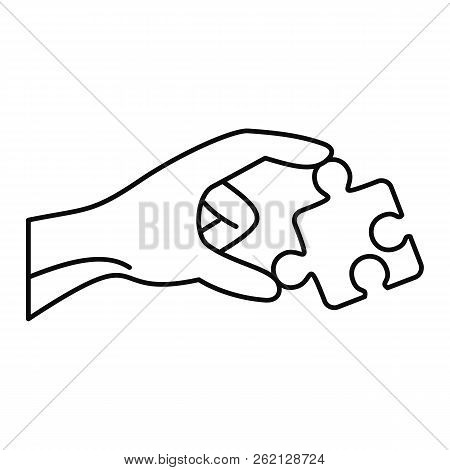 Puzzle Solution Icon. Outline Illustration Of Puzzle Solution Vector Icon For Web Design Isolated On