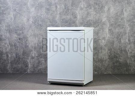 White Empty Mini Fridge Or Mini Bar