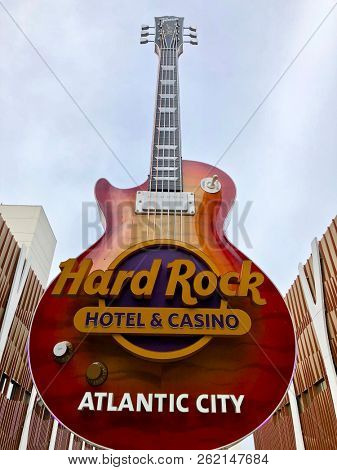 Atlantic City N.J/USA/Oct. 4 2018: The Hard Rock Casino in Atlantic City N.J is celebrating its 100th day in operation.