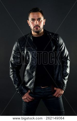 His Style. Hispanic Man With Fashionable Style. Bearded Man In The Fashion. Fashion Model Wear Cloth