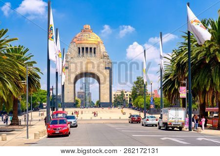 MEXICO CITY - JULY 12,2018 : The Monument to the Revolution in Mexico City