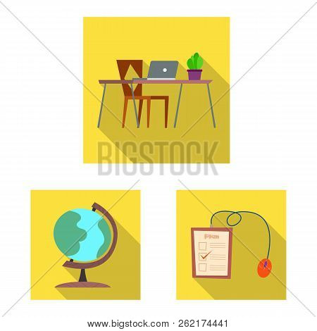 Vector Illustration Of Education And Learning Sign. Set Of Education And School Stock Vector Illustr