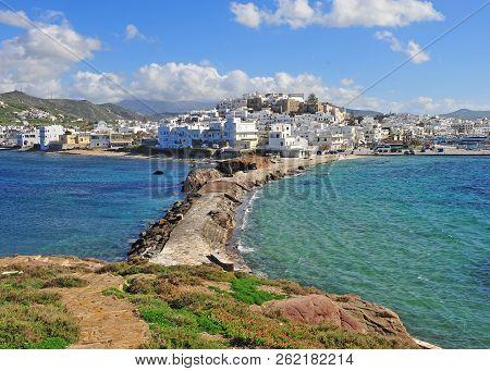 Panorama Of Chora Town On Naxos