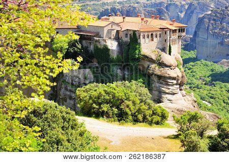 Meteora Monastery And Mountains, Greece
