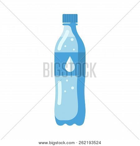 Plastic Water Bottle. Healthy Agua. Plastic Container For Natural Water. Cool Mineral Summer Drink.