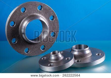 Weld-neck Flanges, Set Of Steel Welding Fittings.
