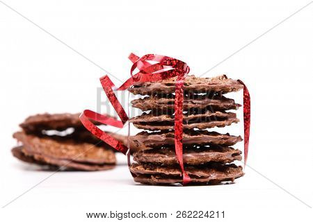 Holiday cookies on white background