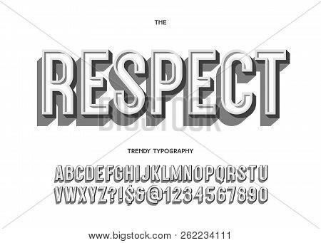Vector Respect Font Vector & Photo (Free Trial) | Bigstock