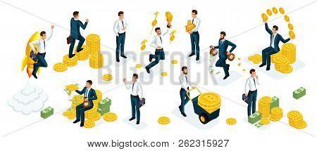Isometrics Businessmen, Investors, Speculators, Financial Market Players, Managing, Financial Invest