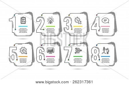 Infographic 8 Options Or Steps Timeline Design. Business Concept. Infographics For Presentations, Ba
