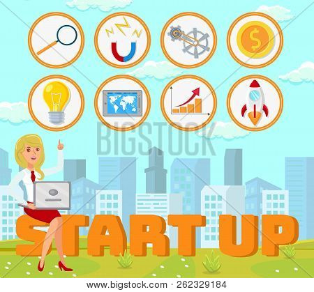 Business Startup Concept. Advertising Banner To Create New Business. International Startup Project.
