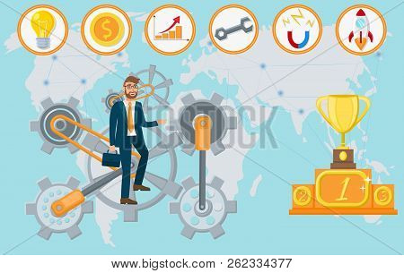 Business Startup Concept. Advertising Banner To Create New Business. Startup Project. Startup Techno