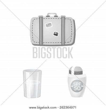 Vector Illustration Of Equipment And Swimming Icon. Collection Of Equipment And Activity Vector Icon