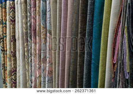 Wide Range Of Fabrics In The Store.