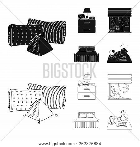 Isolated Object Of Dreams And Night Sign. Collection Of Dreams And Bedroom Vector Icon For Stock.