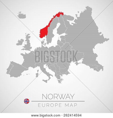 Norway On Map Of Europe.Map European Union Vector Photo Free Trial Bigstock