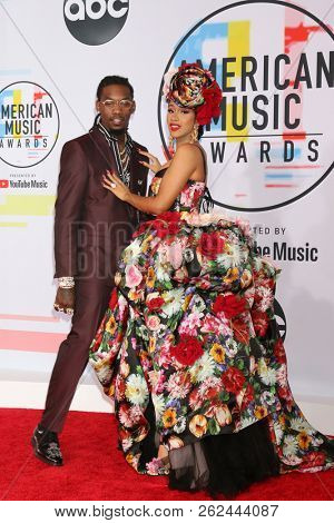 LOS ANGELES - OCT 9:  Offset of Migos, Cardi B at the 2018 American Music Awards at the Microsoft Theater on October 9, 2018 in Los Angeles, CA