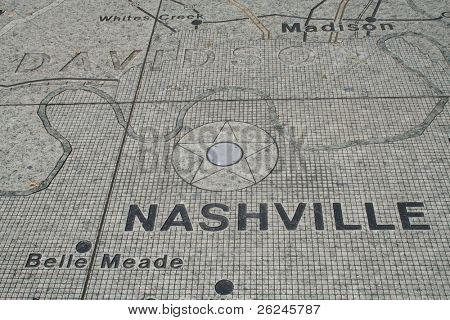 Nashville map at Bicentennial Park