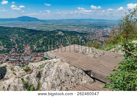 Overview of Brasov City viewed from Tampa Mountain, Brasov, Romania poster