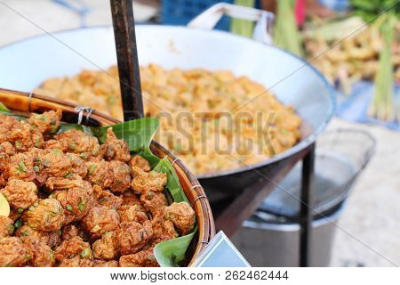 Fried Fish Cake Is Delicious At Street Food