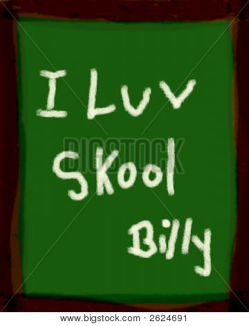 Blackboard Slate With School Message