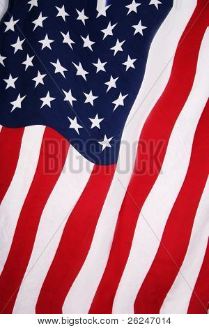 American flag background in red, white and blue