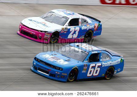 October 06, 2018 - Dover, Delaware, USA: Spencer Gallagher (23) races during the Bar Harbor 200 at Dover International Speedway in Dover, Delaware.