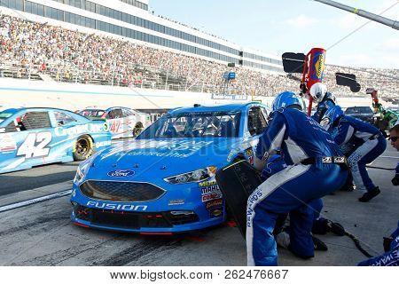 October 07, 2018 - Dover, Delaware, USA: Matt Kenseth (6) comes down pit road for service  during the Gander Outdoors 400 at Dover International Speedway in Dover, Delaware.