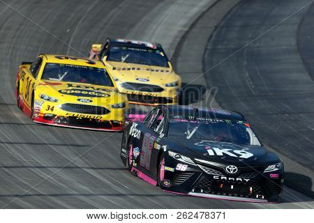 October 07, 2018 - Dover, Delaware, USA: Jeffery Earnhardt (96) races through the field off turn two at  the Gander Outdoors 400 at Dover International Speedway in Dover, Delaware.