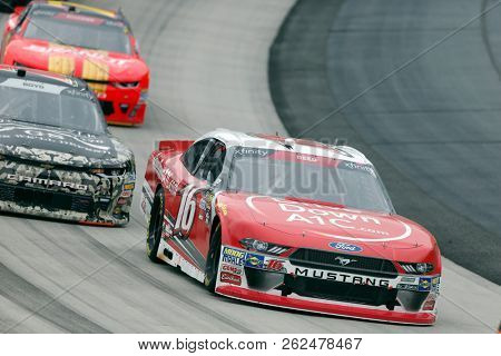 October 06, 2018 - Dover, Delaware, USA: Ryan Reed (16)  races through the field at the Bar Harbor 200 at Dover International Speedway in Dover, Delaware.