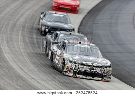October 06, 2018 - Dover, Delaware, USA: Spencer Boyd (76)  races through the field at the Bar Harbor 200 at Dover International Speedway in Dover, Delaware.