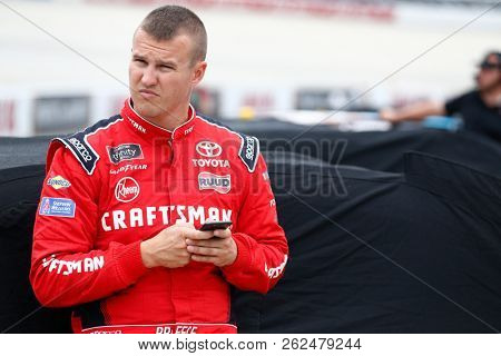 October 06, 2018 - Dover, Delaware, USA: Christopher Bell (20) hangs out on pit road before qualifying for the Bar Harbor 200 at Dover International Speedway in Dover, Delaware.