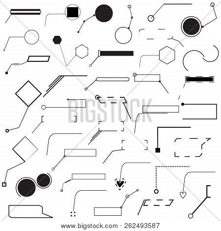 Set Of Forty Different Pointer Vector Illustration