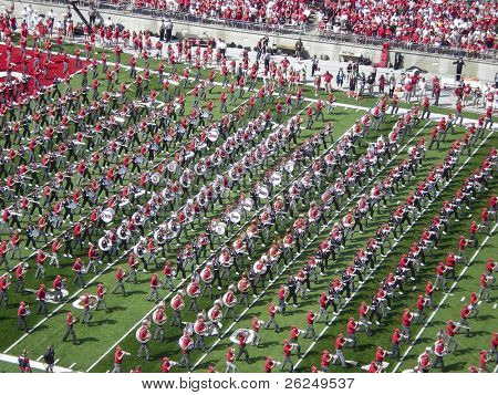COLUMBUS,OH-SEPTEMBER 5:  The Ohio State Alumni band performs with the current OSU band before the game against Navy on September 5, 2009.